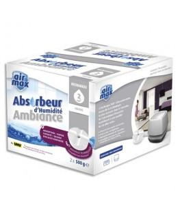 Boîte de 2 recharges de 500g pour absorbeur d'humidité 48160 coloris blanc - Air Max