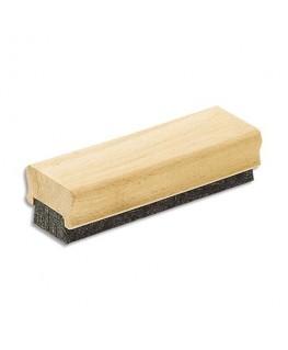 Brosse d'effaçage à lamelle de feutre et corps en bois pour tableau noir - JPC