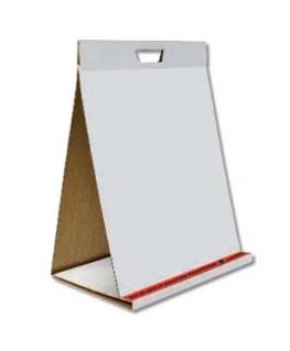 Tableau conférence portable 20 feuilles blanches unies repositionnables L50 x H58.5 cm - Pergamy