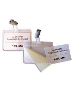 Boîte de 25 badges auto-plastifiant 54 x 90 mm - 5 Etoiles