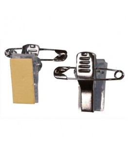 Boîte de 100 clips adhésif métal / Pince pour Badgy 100/200 - Evolis