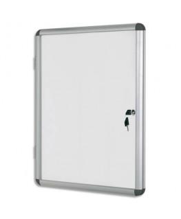 Vitrine d'affichage intérieure magnétique Earth-It 4 feuilles coloris aluminium - Bi-Office