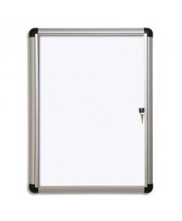 Vitrine d'intérieur Excellence Extra Slim fond magnétique laqué blanc