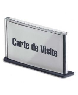 Plaque de porte format carte de visite coloris anthracite - Paperflow