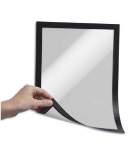 Sachet de 5 cadres d'affichage Duraframe dos magnétique noir format A4 - Durable