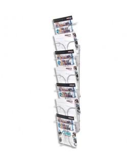 Présentoir documents mural 7 compartiments - Deflect-o®