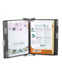 Support mural STERIFOLD avec 10 poches A4 à pivots en PVC - Tarifold®