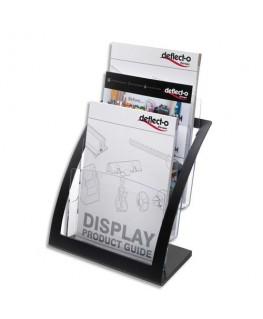 Porte-brochures 3 compartiments A4 Contemporary + porte-cartes A4 L28.9 x H34.9 x P15.6 cm transparent - Deflect-o®