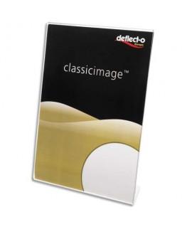 Porte-affiche transparent pour documents A4 portrait incliné - Deflect-o®