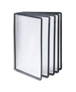 Sachet de 5 pochettes Noir en polypropylène Format A4