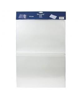 Lot de 10 inserts format A4 pour cartes-menu à élastique pour insertion de plusieurs vues - Securit®