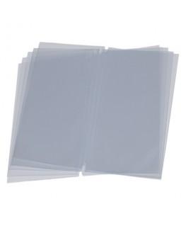 Lot de 10 double inserts format A45 pour cartes-menu à élastique pour insertion de plusieurs vues - Securit®