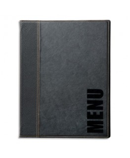 Protège-menu Trendy Noir format A4