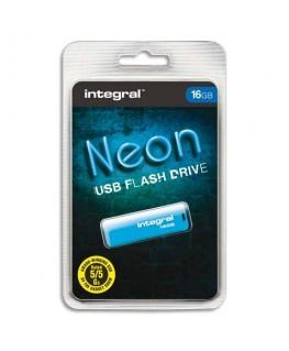 Clé USB 2.0 NEON 16Go bleue INFD16GBNEONB + redevance - Integral