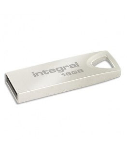 Clé USB 2.0 Métal ARC 16Go INFD16GBARC + Redevance - Integral