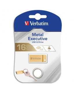 Clé USB 3.0 Store'N'Go Mini Metal Executive Gold 16Go 99104 + redevance - Verbatim®