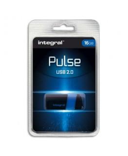 Clé USB 2.0 PULSE 16Go Bleue INFD16GBPULSEBL + redevance - Integral