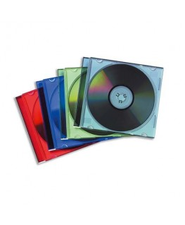 Lot de 25 boîtiers CD slim coloris assortis 98317 - Fellowes®