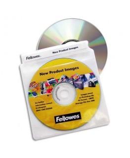 Paquet de 100 enveloppes plastiques CD/DVD 9831201 - Fellowes®