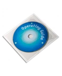 Boîte de 10 pochettes adhésives pour CD - Durable