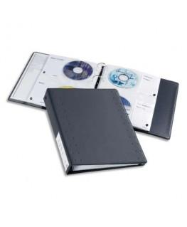 Classeur indexable format A4 pour CD et DVD avec 15 pochettes anthracite CD/DVD Index 40 5227-58 - Durable