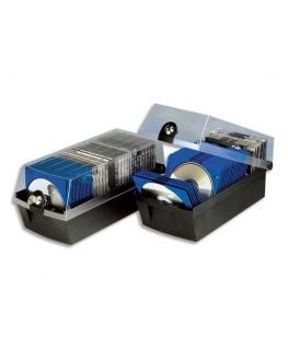 Boîte pour 30 CD avec boîtier noir/cristal - HAN