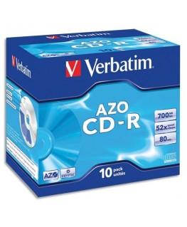Boîte de 10 CD-R 80 min. 700 Mo - Verbatim®