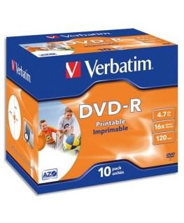 Boîte cristal de 5 BD-R (Blue-Ray) 6x 25Go - 43715 - Verbatim®