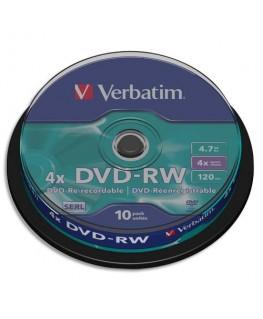 Tour de 10 DVD-RW 4.7Go 4x
