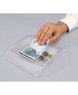 Ramasse-monnaie standard en plastique L19.4 x H3 x P18.5 cm coloris transparent - Sigel®