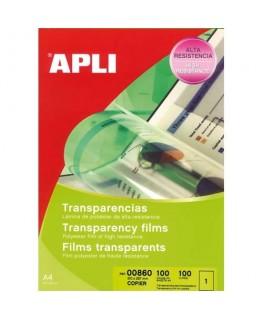 Boîte de 100 film transparents pour photocopieur antistatique - Apli Agipa®