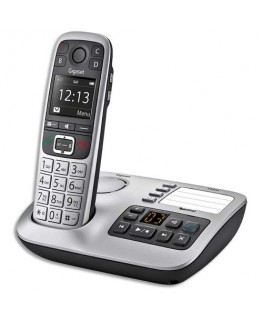 Téléphone sans fil silver solo E560A avec répondeur - Gigaset