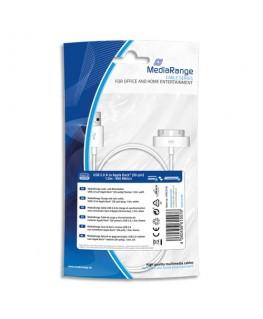 Câble USB 2.0 charge/synchronisation connecteur Dock Apple MFI (30 broches) - MediaRange