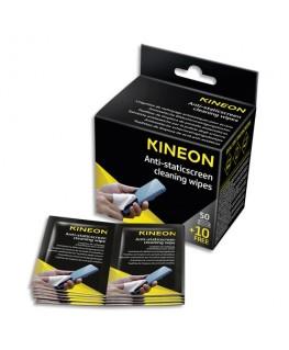 Boîte de 60 lingettes écrans antistatiques (50 unités + 10 offertes) - Kineon