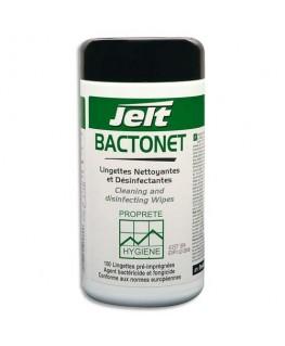 Boîte de 100 lingettes nettoyantes anti-bactérien Bactonet - Jelt Professionnel®