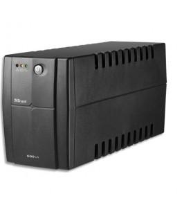 Onduleur ASI 600VA avec batterie de réserve + 2 prises alimentation contre la surtension - Trust