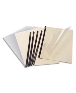 Kit de reliure manuelle pour 5 dossiers Serodo coloris ivoire - Exacompta