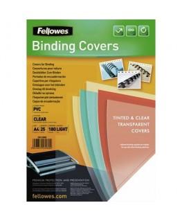 Boîte de 25 couvertures transparentes PVC format A4 180 microns - Fellowes®