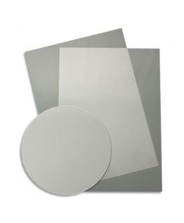 Boîte de 50 plats de couvertures fantaisie PVC transparent strié 500 microns - Fellowes®