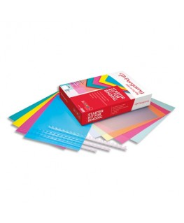 Kit de démarrage de reliure (40 peignes + 40 plats + 40 plats translucides coloris assortis) - Pergamy