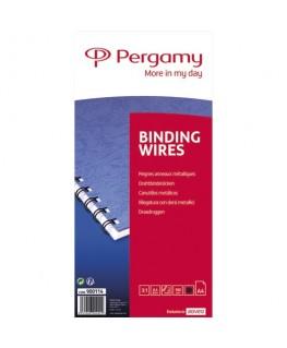 Boîte de 100 peignes anneaux métalliques 6.4 mm Noir - Pergamy
