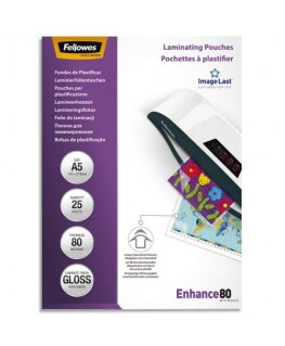 Boîte de 25 pochettes de plastification format A5