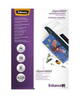 Pack de 100 pochettes SuperQuick A4 80 microns - Fellowes®
