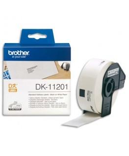 Rouleau de 400 étiquettes d'adressage 29 x 90 mm pour étiqueteuses QL500 et QL550 - DK11201 - Brother®