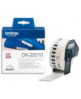 Ruban continu Papier adhésif Noir / Blanc 29 mm x 16 m - DK22210 - Brother®