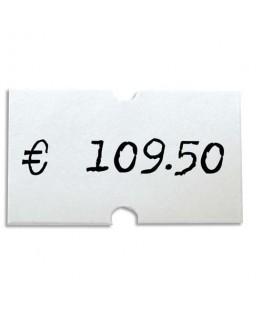Pack de 6 rouleaux de 1000 étiquettes blanches rectangulaires 21 x 12 mm pour pinces 151991-101418 - Apli Agipa®