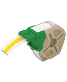 Cartouche recyclée d'étiquettes plastique adhésif permanent 12 mm x 10 m Jaune 70150015 - Leitz®