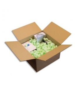 Sac de 500 litres de particules de calage Flo Pak forme 8 creux en polystyrène vert clair - Emballage