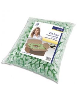 Sachet de particules de calage 15 litres en polystyrène coloris vert - tidyPac®