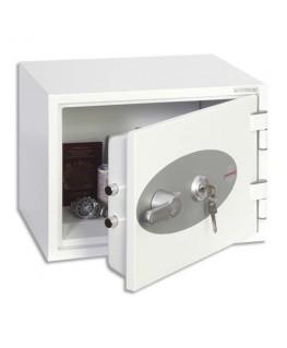 Coffre-fort ignifugé 1 heure acier serrure à clé Titan 16 litres 41 x 30.8 x 34.2 cm gris FS1271K - Phoenix